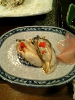 かきの握り寿司