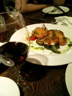 赤ワインとフランス料理と