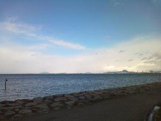 冬のびわ湖