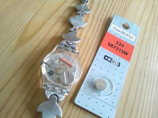 Swatchの電池交換