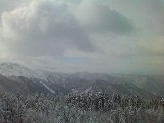 西穂高山上