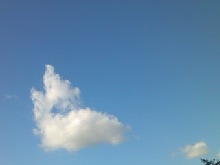 空も雲も夏