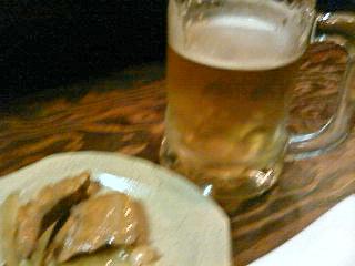 ごはん前ビール