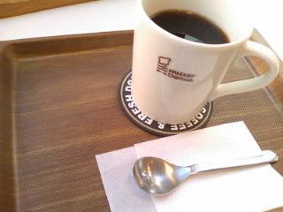 ドーナツ屋さんのコーヒー