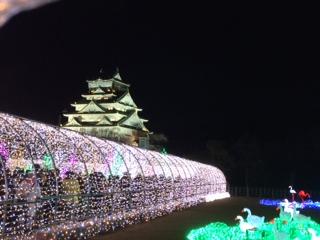 大坂城3Dマッピング