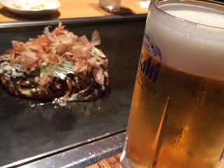 お好み焼きビール