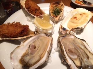 牡蠣とグリル